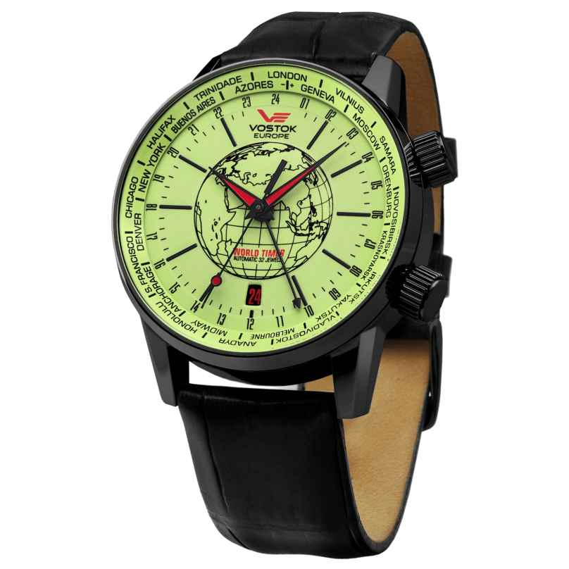 Vostok Europe 5604240 World Timer Automatikuhr 4260157445215