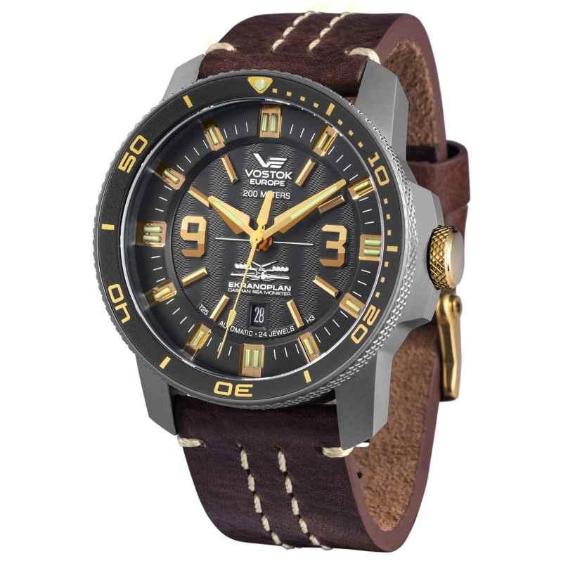 Vostok Europe NH35A-546H515 Titanium Mens Autmatic Watch Ekranoplan 4260157447479