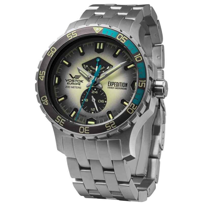 Vostok Europe YN84-597A544B Herrenuhr Expedition Everest Underground Stahl/Hellgrau 4260157449695