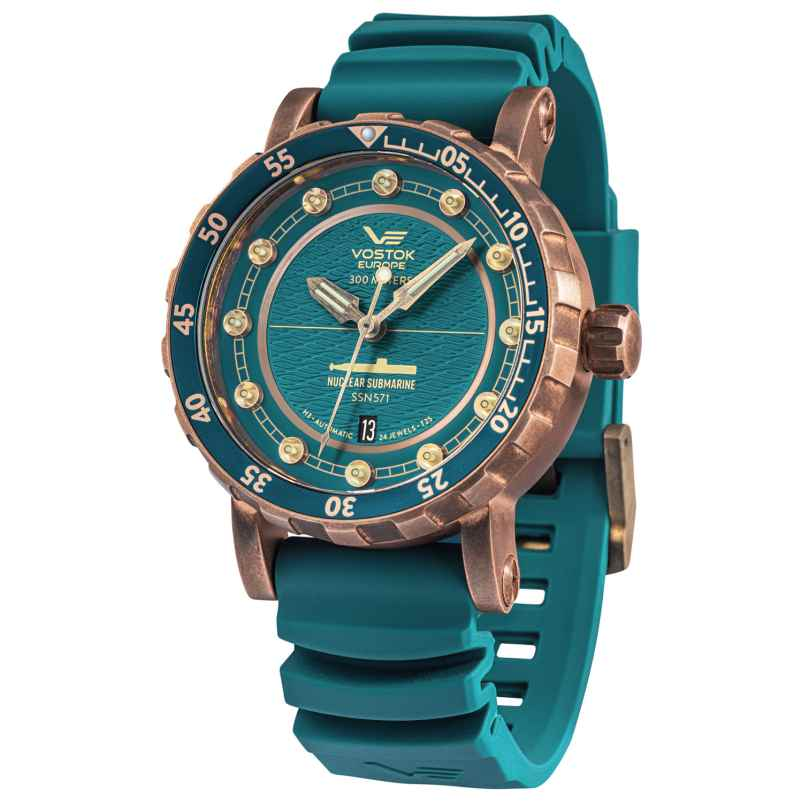 Vostok Europe NH35-571O609 Men's Watch Automatic SSN-571 Nuclear Submarine Bronze 4260703060183