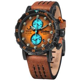 Vostok Europe VK61-571F612 Herrenuhr Chronograph SSN-571 Nuclear Submarine Orange