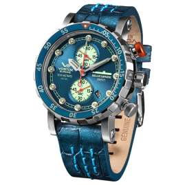 Vostok Europe VK61-571A610 Men's Watch Chronograph SSN-571 Nuclear Submarine Teal