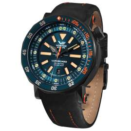 Vostok Europe NH35A-620C633 Men´s Watch Automatic Lunokhod 2 with teal strap