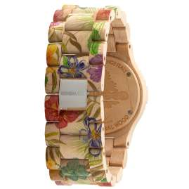 WeWood WW01013 Date Flower Beige Ladies Wood Watch