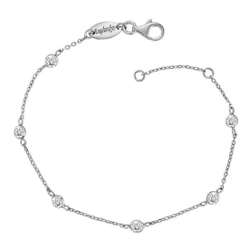 Engelsrufer ERF-LILMOON-ZI Silver Anklet Moonlight with Cubic Zirconia 4260562161922