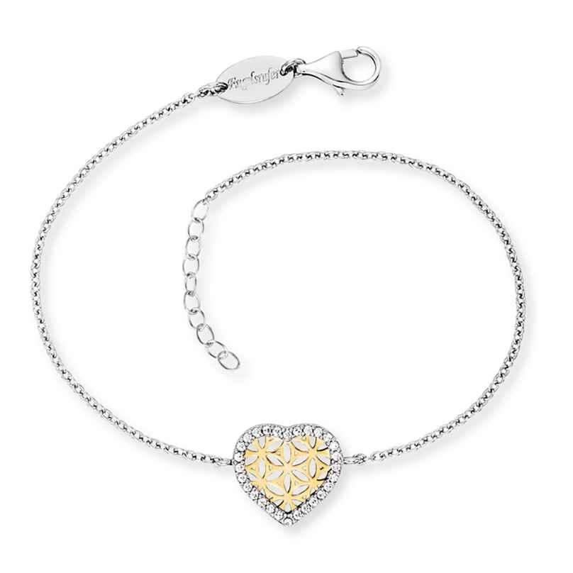 Engelsrufer ERB-HEARTLIFL-ZI-BIG Silberarmband für Damen Herz mit Lebensblume 4260645863354