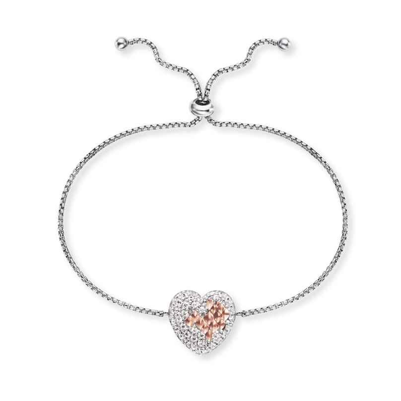 Engelsrufer ERB-DARLING-ZI-BIR Damen-Armband Silber Herz mit Zirkonia 4260645863286
