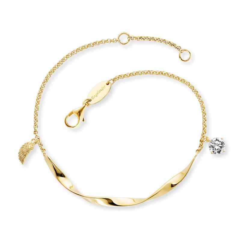 Engelsrufer ERB-TWIST-WING-ZI-G Damen-Armband Silber vergoldet 4260645863040