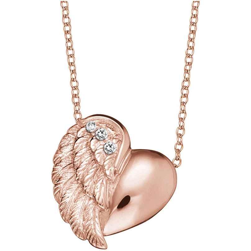 Engelsrufer ERN-LILHEARTWING-R Damen-Halskette Herzflügel Rosé 4260463194227