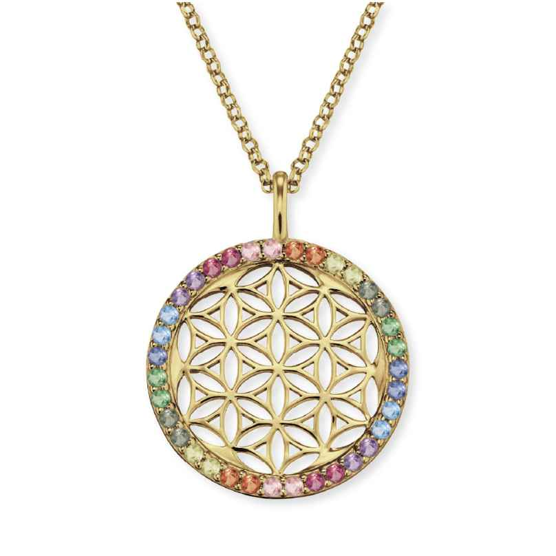 Engelsrufer ERN-LILLIFL-ZIM-G Ladies´ Necklace Flower of Life Gold-Plated 4260562160680