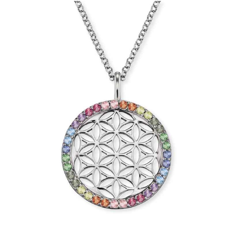 Engelsrufer ERN-LILLIFL-ZIM Damen-Halskette Lebensblume Silber 4260562160598