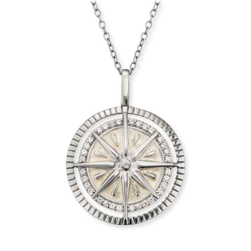 Engelsrufer ERN-WINDROSE-ENP-ZI Damen-Halskette Windrose Silber 4260562160857