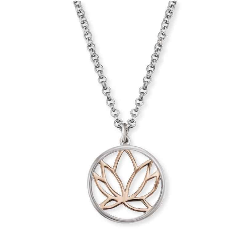 Engelsrufer ERN-LILLOTUS-BICOR Silber-Halskette für Damen Lotus 4260562160796