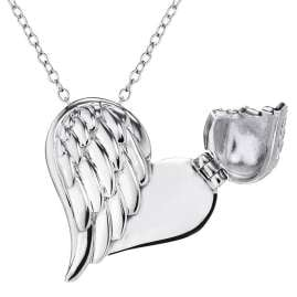 Engelsrufer ERN-WITHLOVE-02-BI Necklace Heartwing With Love Two-Colour