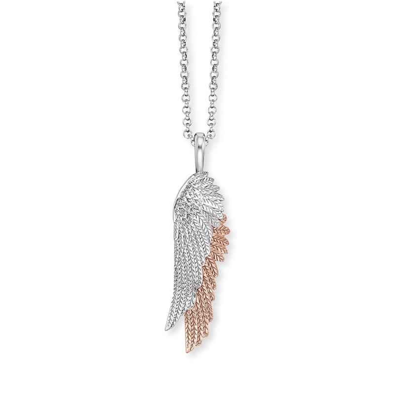 Engelsrufer ERN-WINGDUO-BIR Damen-Collier Silber Kette Flügelduo 4260645863507