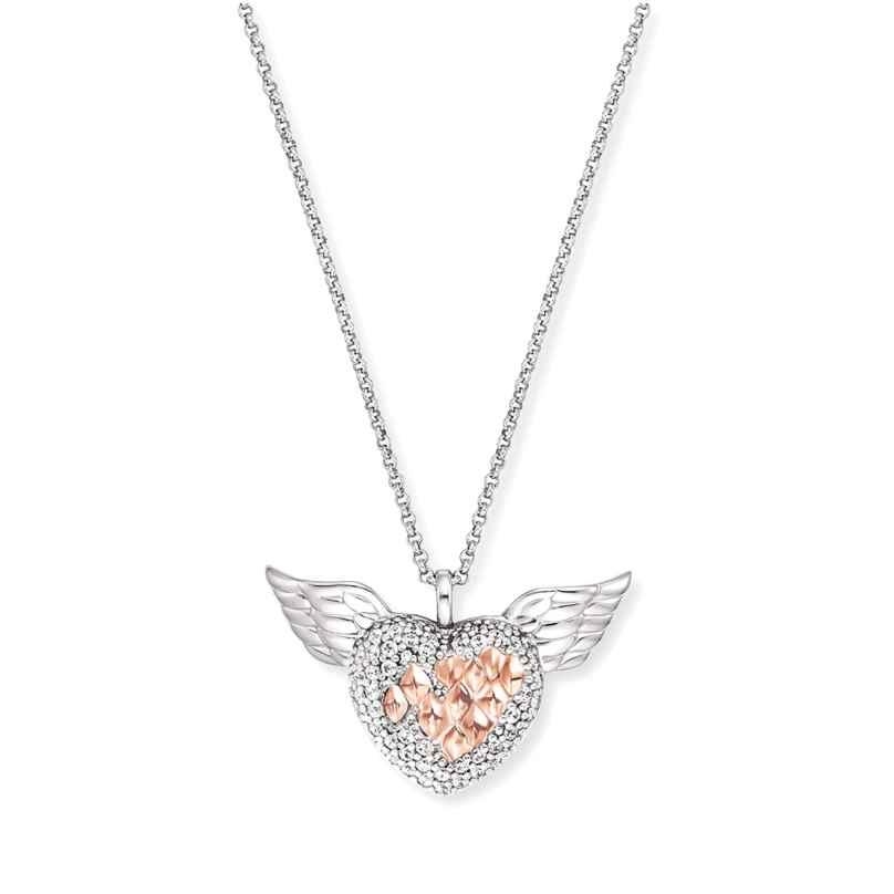 Engelsrufer ERN-HEARTANGEL-BIR Damen-Kette Herz mit Flügel Silber 4260645863330