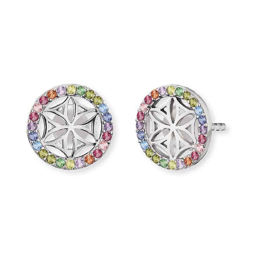 Engelsrufer ERE-LILLIFL-ZIM-ST Ladies´ Ear Studs Flower of Life Multi-Coloured 4260562160581
