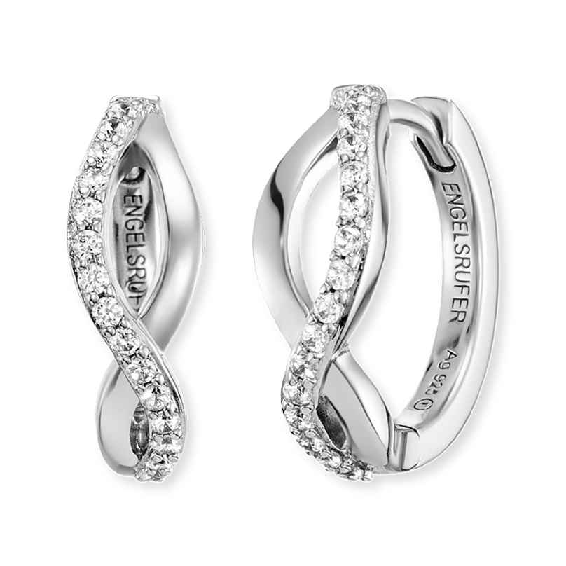Engelsrufer ERE-PARADISE-ZI-CR Ladies´ Hoop Earrings Silver Paradise 4260562161083