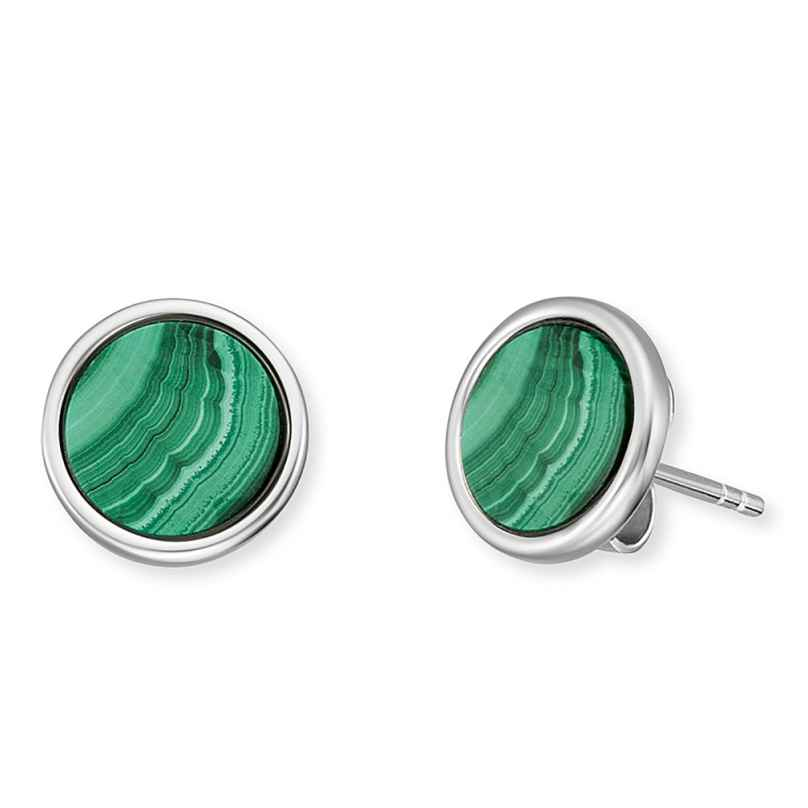 Engelsrufer ERE-ML-ST Ladies' Stud Earrings Silver Powerful Stone Malachite 4260645869776