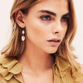 Hipanema E20KESIWH Damen-Ohrringe Kesiah Weiß