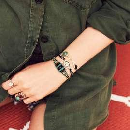 Hipanema H19MEDDIBLK Damen-Armband Eddie-Link