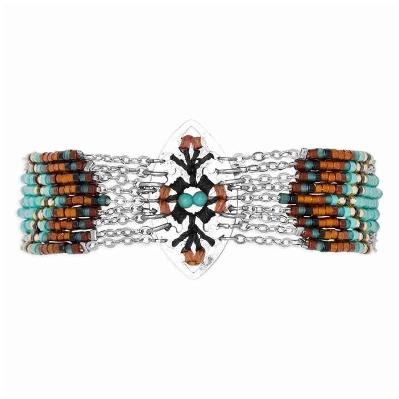 Hipanema H19MBALTTU Damen-Armband Baltik Turquoise 3700839110419