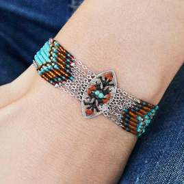 Hipanema H19MBALTTU Ladies' Bracelet Baltik Turquoise