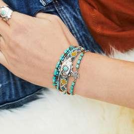 Hipanema H19MELDOTU Damen-Armband Eldorado Turquoise