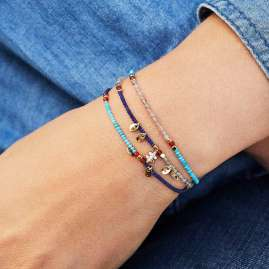 Hipanema H19PARUNA Women's Bracelet Parure Navy