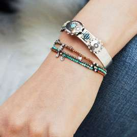 Hipanema H19PARUTU Damen-Armband Parure Turquoise