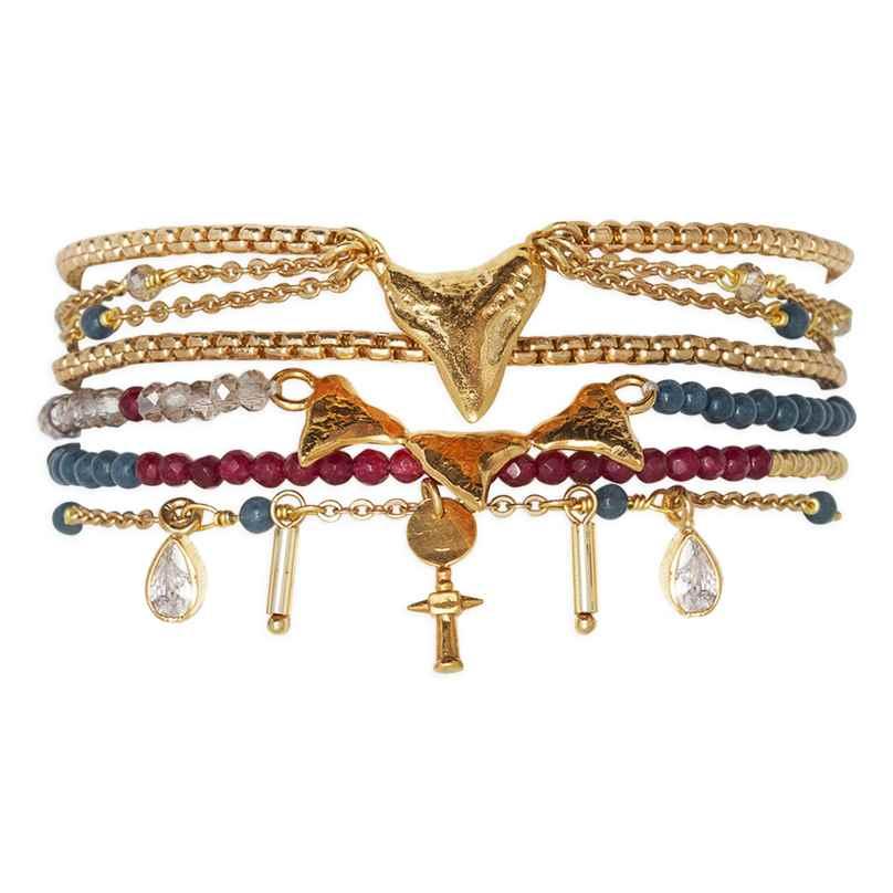 Hipanema H19MABALNA Damen-Armband Abalone Navy 3700839108904