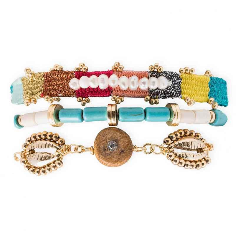 Hipanema E21MROBIM Damen-Armband Robinson Multicolore M 3700839164696