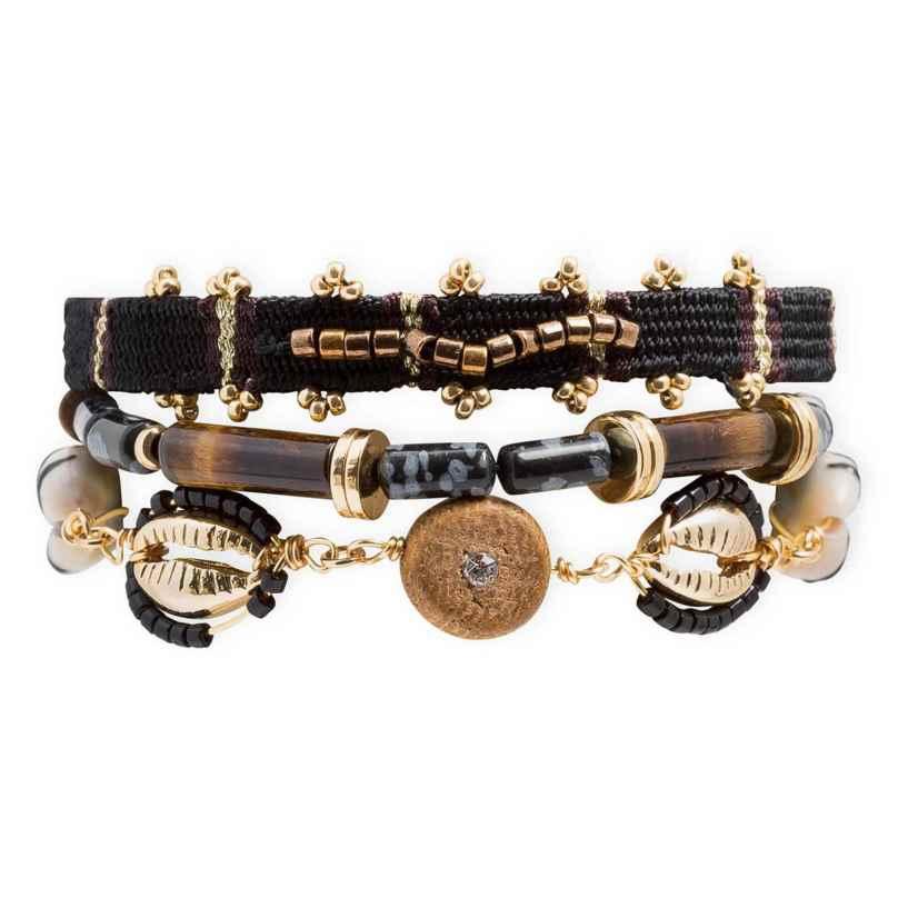 Hipanema E21MROBIBLK Damenarmband Robinson Black M 3700839164726