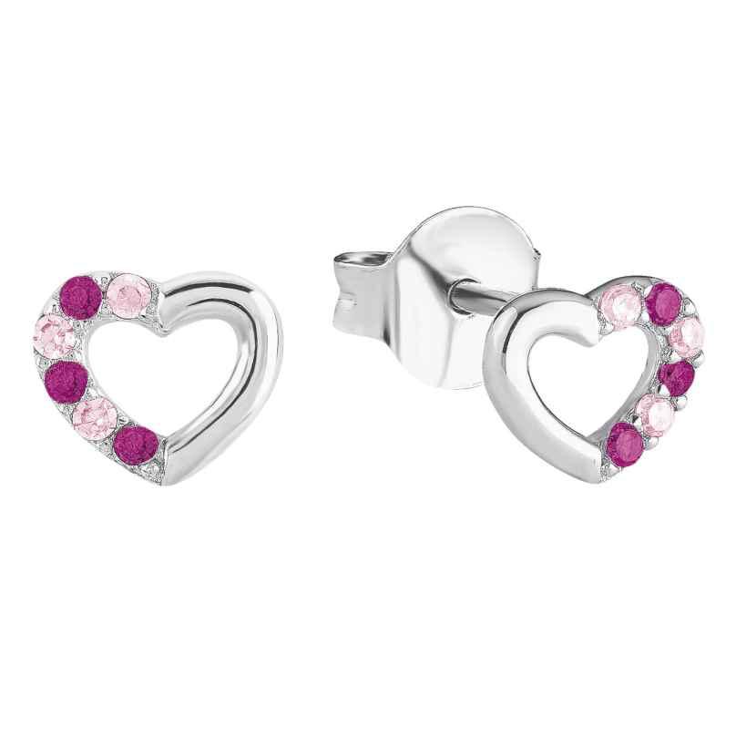 Prinzessin Lillifee 2024375 Silver Girls' Heart Earrings 4056867015769