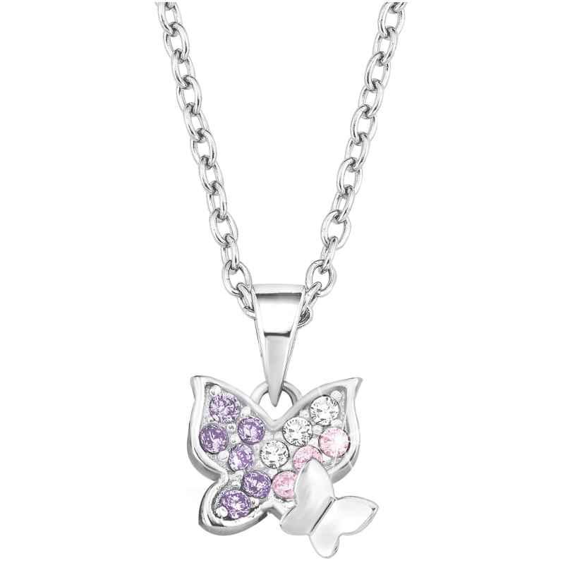 Prinzessin Lillifee 2021103 Silber-Halskette für Kinder Schmetterlinge 4056867010894