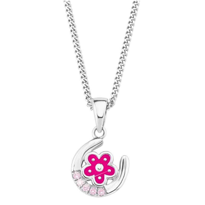 Prinzessin Lillifee 2021029 Silber Kinder-Halskette Hufeisen mit Blume 4056867010245