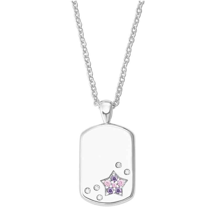 Prinzessin Lillifee 2027207 Silber Kinder-Halskette Dog Tag mit Stern 4056867019811