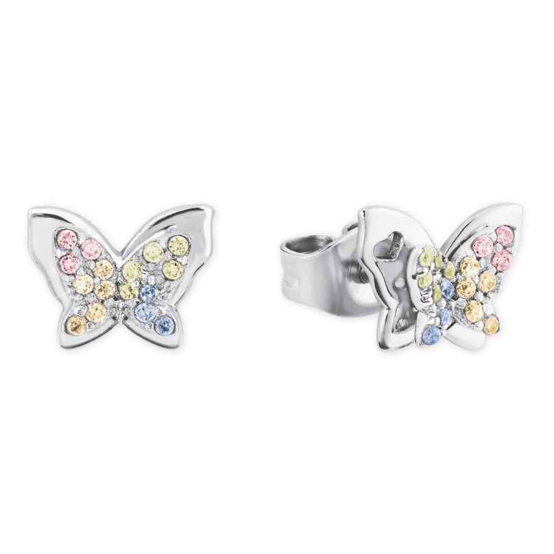 Prinzessin Lillifee 2027901 Silver Girls' Earrings Colourful Butterfly 4056867022316