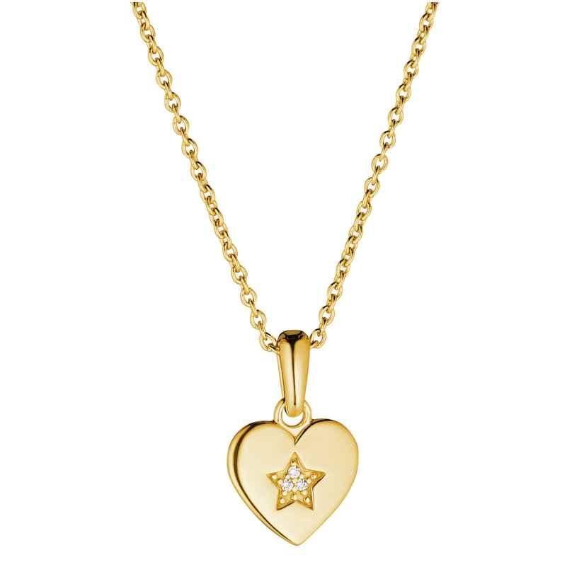 Prinzessin Lillifee 2029680 Mädchen-Halskette mit Herz-Anhänger Silber vergoldet 4056867024471