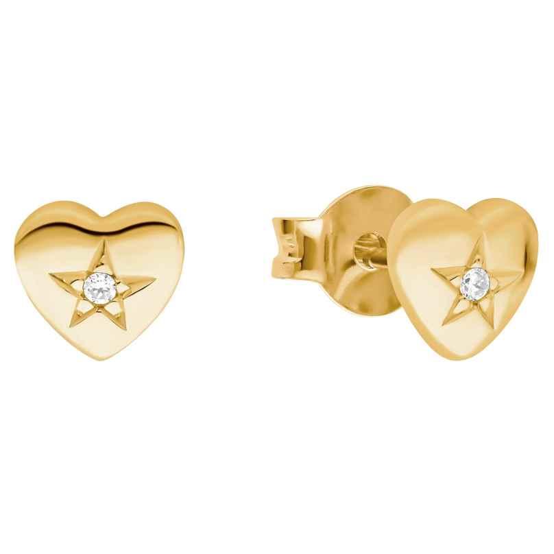 Prinzessin Lillifee 2029682 Mädchen-Ohrringe Herz Ohrstecker Silber vergoldet 4056867024495