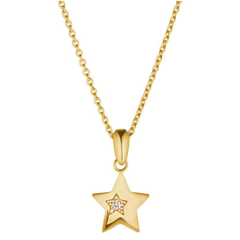 Prinzessin Lillifee 2029689 Kinder-Halskette mit Stern-Anhänger Silber vergoldet 4056867024518