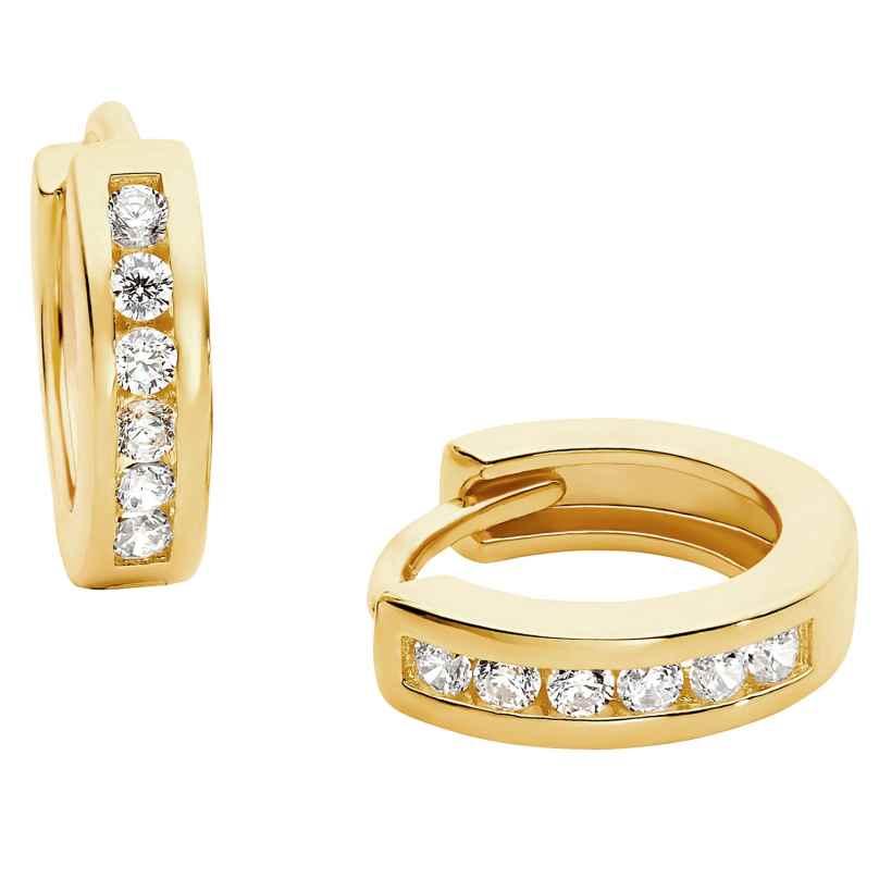 Prinzessin Lillifee 2029722 Kinder-Ohrringe Creolen Silber vergoldet 4056867024587