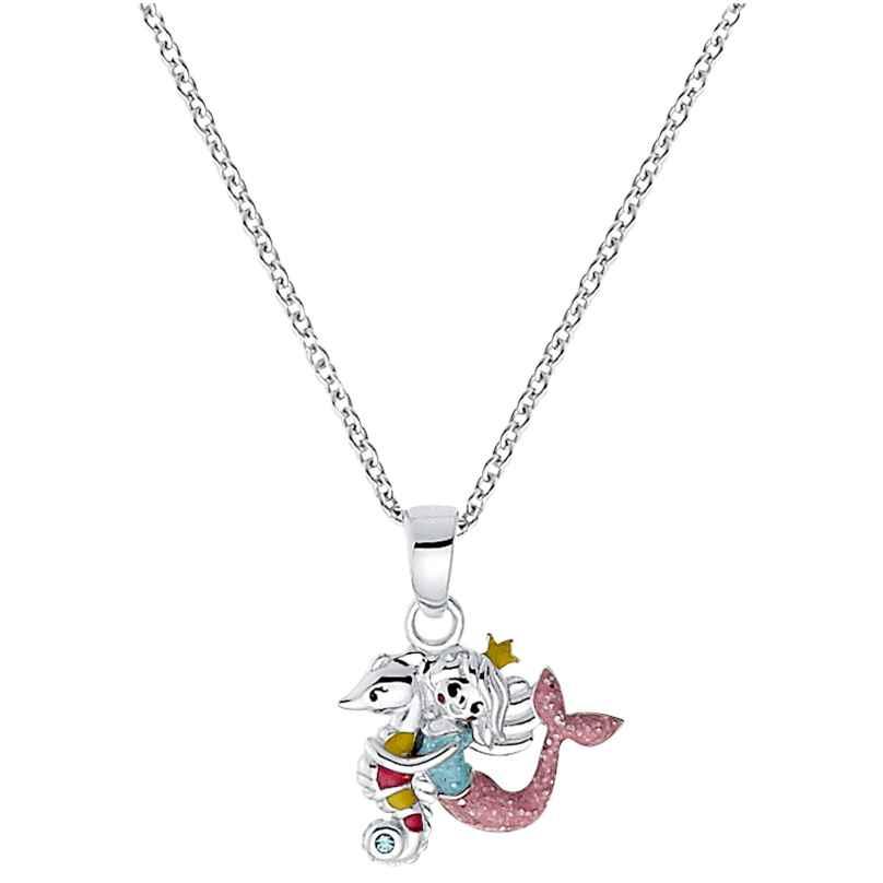 Prinzessin Lillifee 2031159 Kinder-Halskette Seepferdchen mit Meerjungfrau Silber 4056867027366