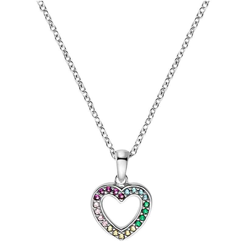 Prinzessin Lillifee 2031167 Silber Kinder-Halskette Herz Multicolor 4056867027441