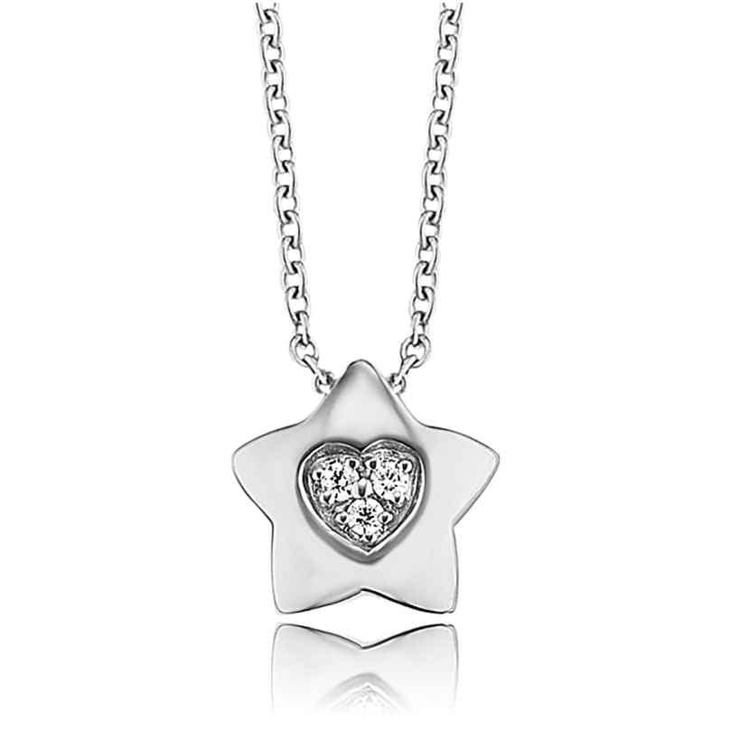 Herzengel HEN-HEARTSTAR-ZI Children´s Necklace Star with Heart 4260562169577