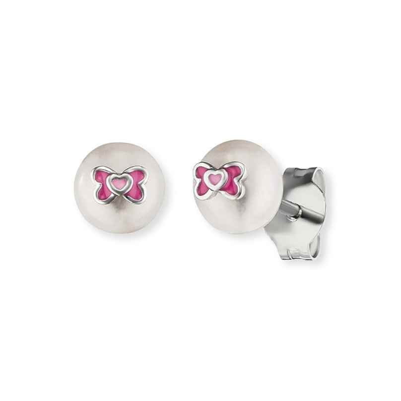Herzengel HEE-BOW-PE-ST Children´s Stud Earrings Pearl 4260562161335
