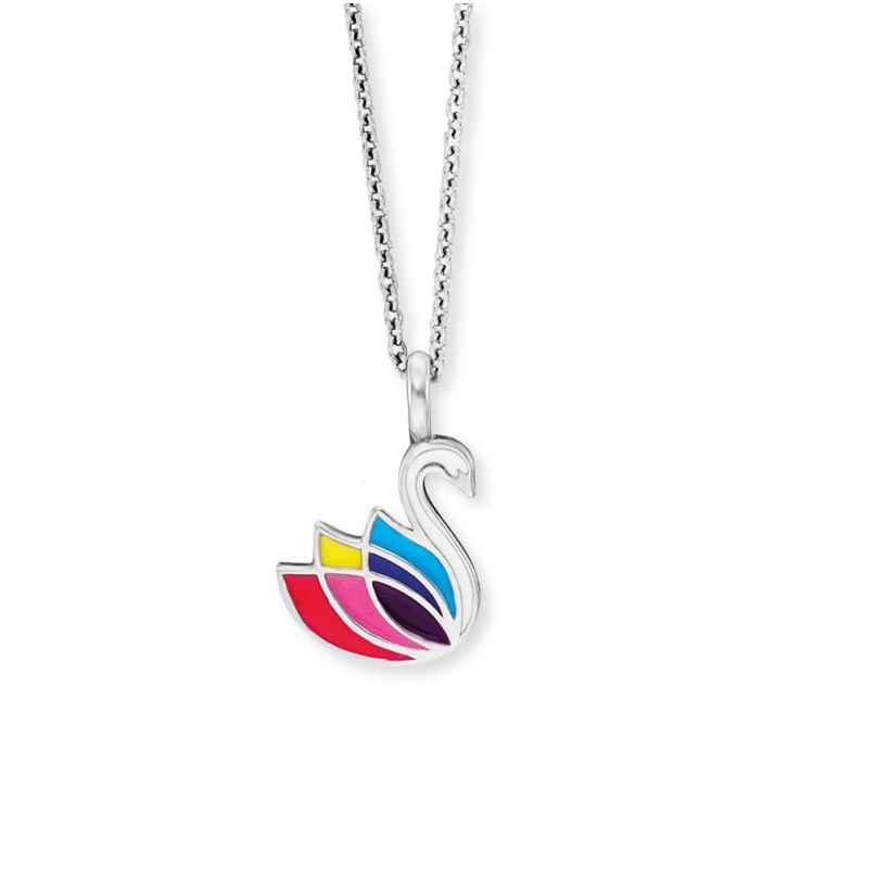 Herzengel HEN-SWAN Kinder-Halskette Schwan Silber 4260645863866