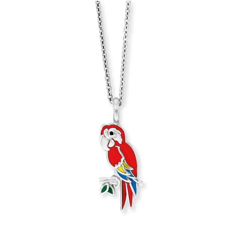 Herzengel HEN-PARROT Kinder-Halskette Papagei Silber 4260645863927