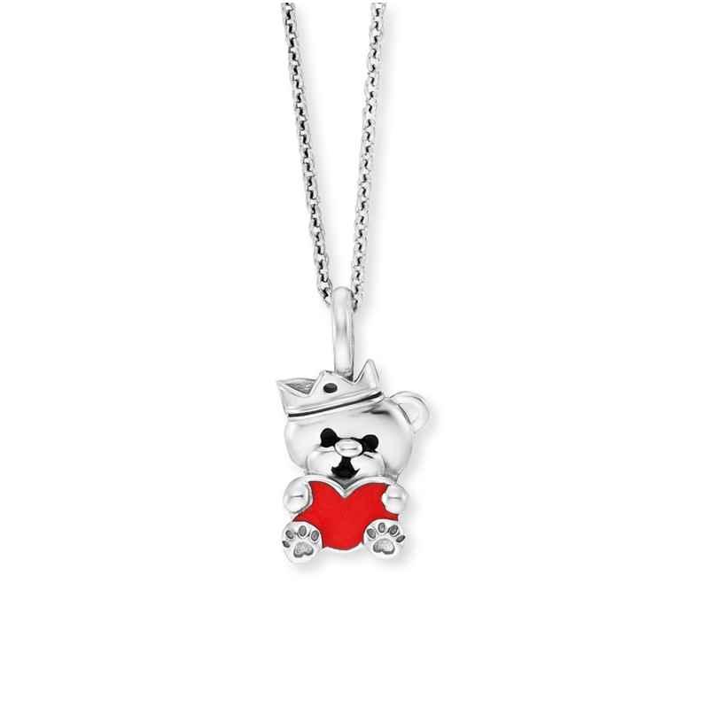 Herzengel HEN-TEDDYLOVE Silber-Halskette für Kinder Teddybär 4260645863903