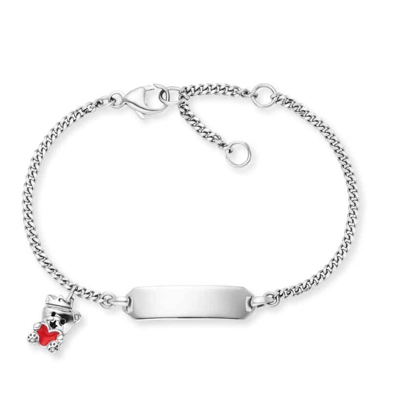 Herzengel HEB-ID-TEDDYLOVE Kinder-Armband mit Gravurschild Teddybär Silber 4260645863835